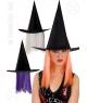Palarie vrajitoare cu par Halloween
