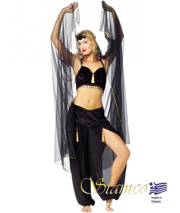 Costum carnaval femei belly dancer negru