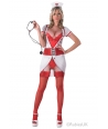 Costum carnaval femei asistenta model imprimat
