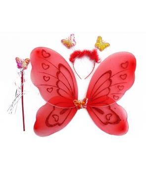 Set aripi fluture rosu