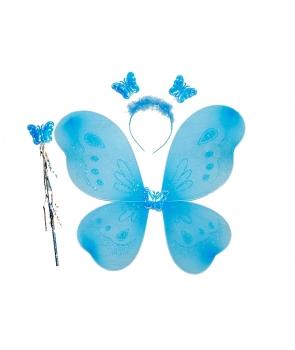 Set aripi fluture albastru