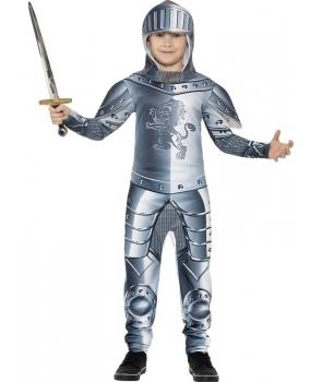 Costum carnaval baieti cavaler medieval armura