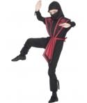 Costum carnaval copii ninja cu rosu