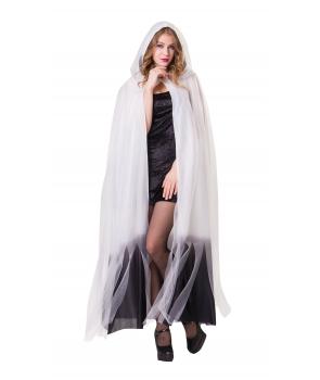 Pelerina Halloween alba cu tul