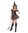 Costum Halloween femei vrajitoare cu scheleti