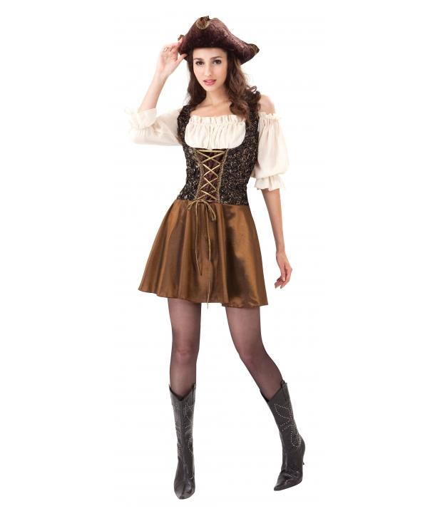 Costum carnaval femei pirata maro