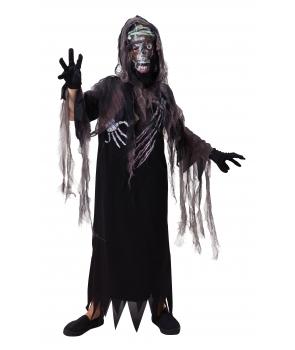 Costum Halloween baieti cu roba si masca