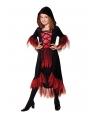 Costum Halloween fete vampirita eleganta cu gluga