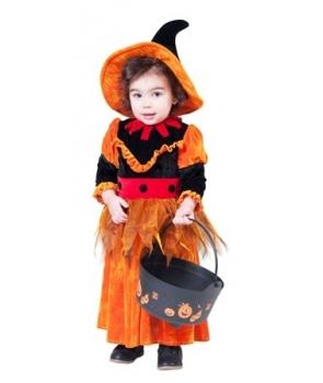 Costum Halloween fete vrajitoare dovleac