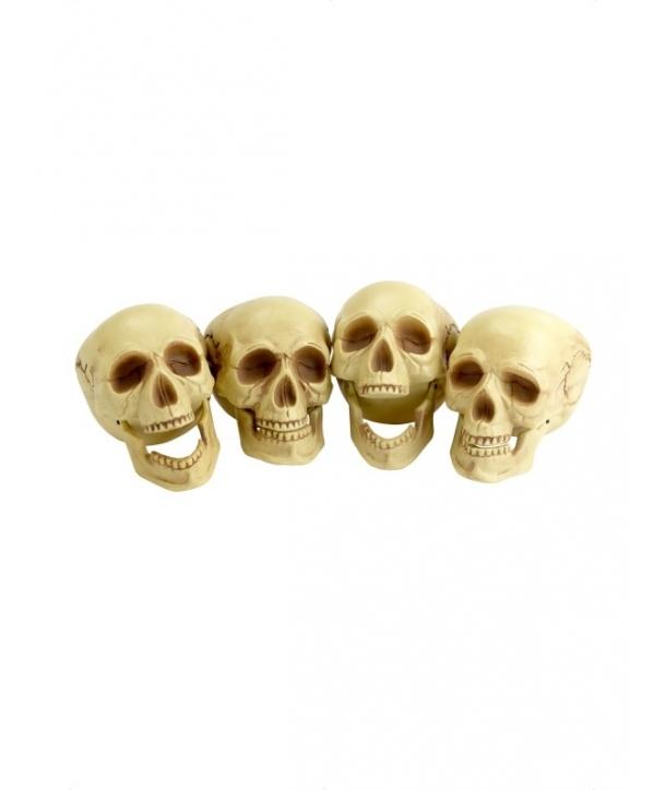 Decor craniu culoare naturala Halloween