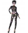 Costum Halloween femei schelet pisica dragut