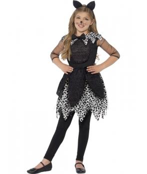 Costum Halloween fete pisica eleganta