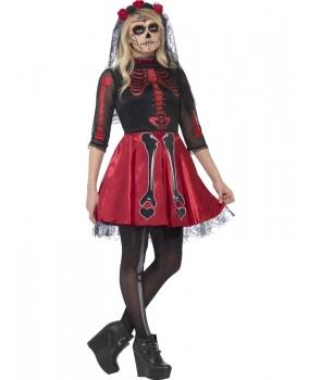 Costum Halloween adolescenta Day of the Dead