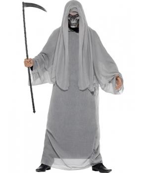 Costum Halloween barbati Grim reaper gri