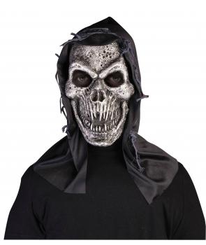 Masca horror Halloween schelet argintiu
