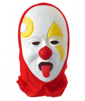 Masca Halloween clovn cu limba