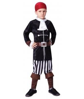 Costum carnaval baieti capitan pirat