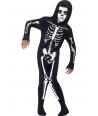 Costum Halloween baieti schelet combinezon