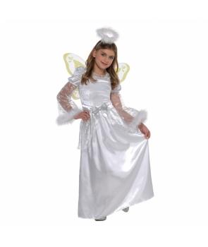 Costum Craciun fete inger rochie