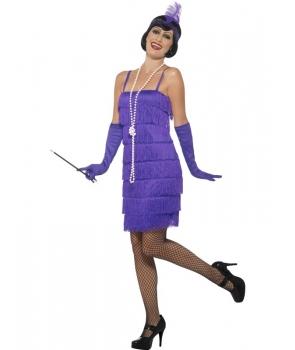 Costum carnaval femei Anii 20 mov model 1