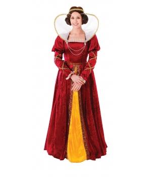 Costum carnaval femei Regina Elizabeth