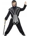 Costum carnaval baieti ninja negru cu argintiu