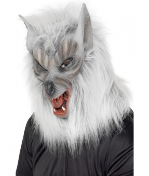 Masca horror lup gri Halloween