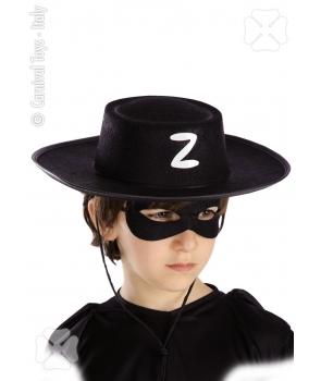 Palarie Zorro copii cu semn alb