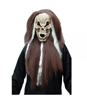 Masca schelet maro cu par Halloween