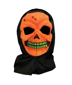 Masca halloween schelet portocaliu