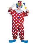 Costum carnaval adulti clovn cu buline
