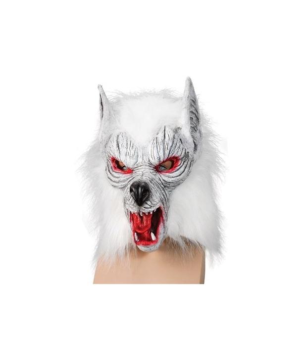 Masca horror lup alb
