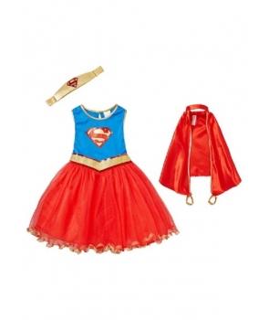 Costum carnaval fete Supergirl cu pelerina
