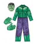 Costum carnaval baieti Hulk cu manusi