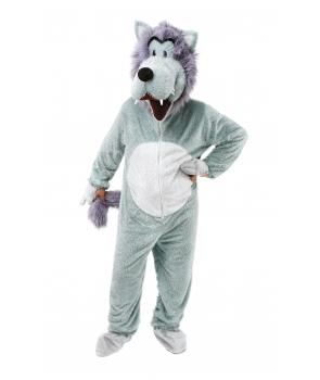 Costum carnaval adulti mascota lup