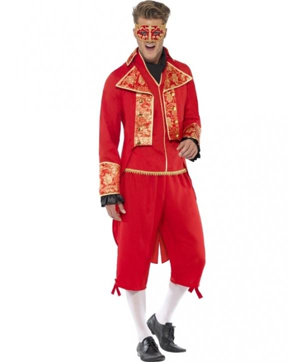 Costum barbati diavol mascat Halloween