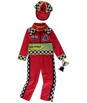 Costum carnaval baieti pilot de curse