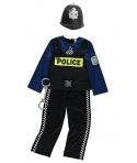 Costum carnaval baieti politist ofiter