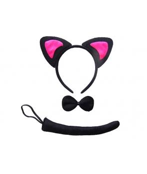 Set pisica cu urechi fuchsia