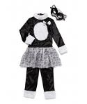 Costum carnaval fete pisica cu fustita gri