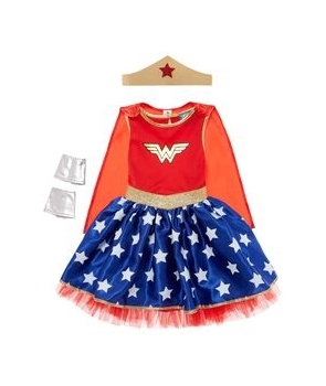 Costum carnaval fete Wonder Women cu pelerina