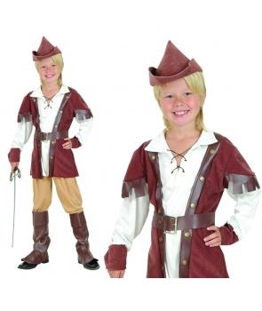 Costum carnaval copii Robin Hood de lux