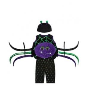 Costum Halloween copii paianjen cu mov