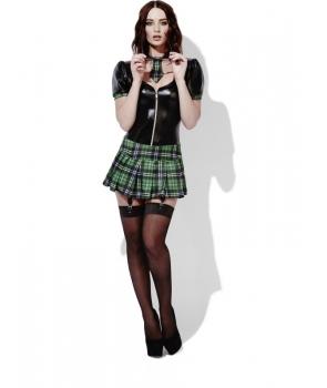 Costum femei scolarita cu verde