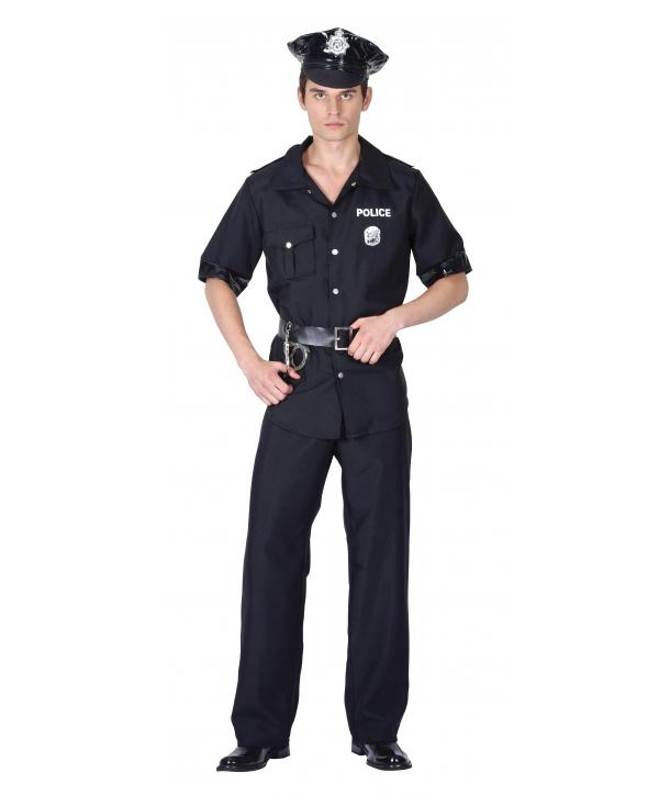 Costum carnaval barbati politist negru