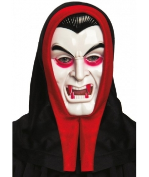 Masca Halloween vampir alb