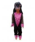 Costum carnaval fete pisica cu masca