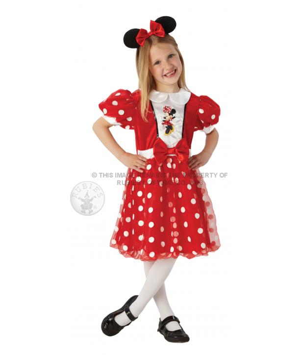 Costum carnaval fete Minnie Mouse rosu