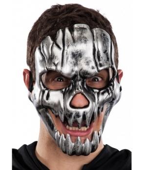 Masca Halloween schelet argintiu