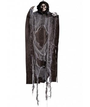 Decor Halloween schelet negru cu gri